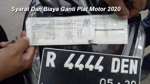 Syarat Dan Biaya Ganti Plat Motor 2020